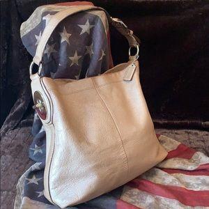 COACH Penelope Pebble Leather Hobo Bag F16535